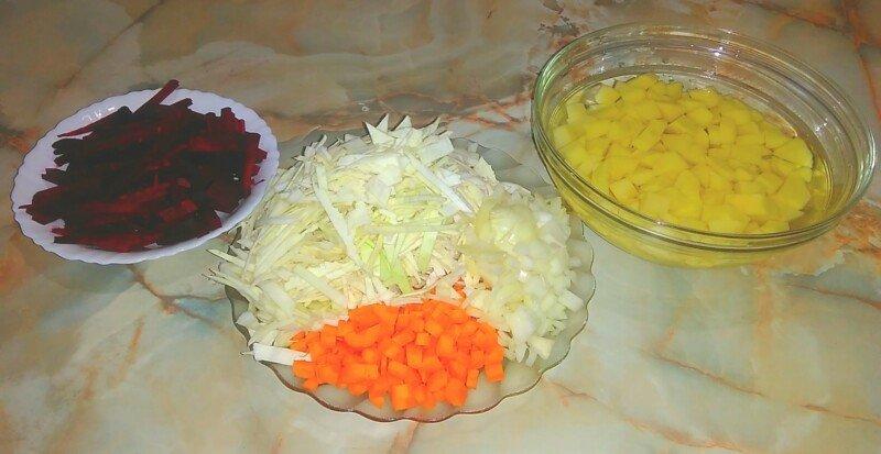 рецепт борща с капустой