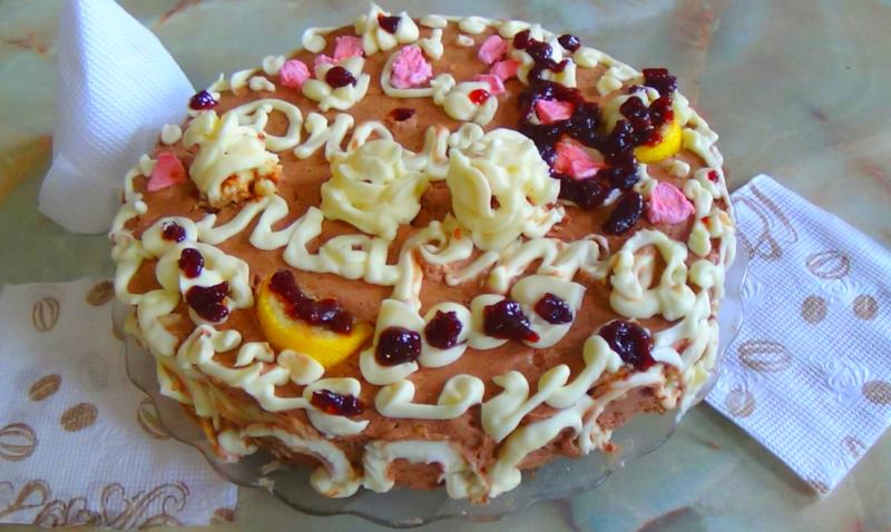Торт со сливочным кремом со сливками 478 рецептов - 1000.menu